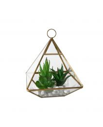GS3736-Glass Tri Terrarium Succulent, Wide MD